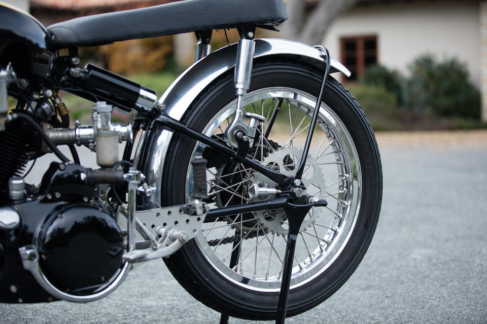 The Ex-Ed LaBelle road racer and drag bike,1952 Vincent Black Shadow Special  Frame no. RC10120B  Engine no. F10AB/1B/8220
