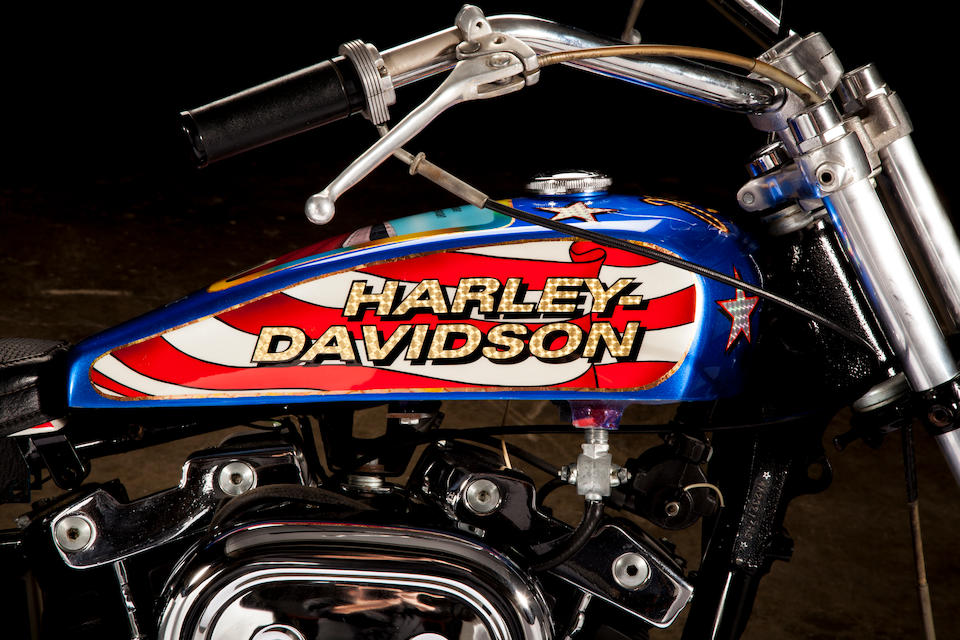 Evel Knievel S 1976 Harley Davidson Goes To Auction: Bonhams : Film Used, Built By Bud Ekins For The Movie