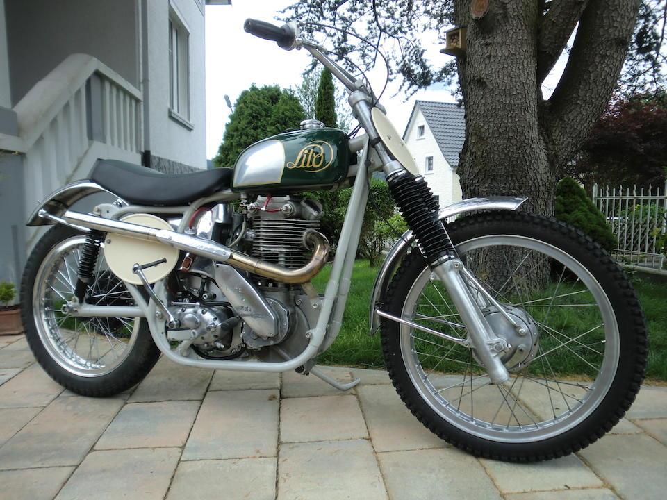 A rare 1960s FIM World Championship Motocross contender,1962 Lito 500cc MOTOCROSS RACER Engine no. 1506