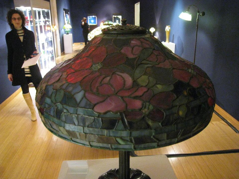 Tiffany Studios  Peony Table Lamp, circa 1910