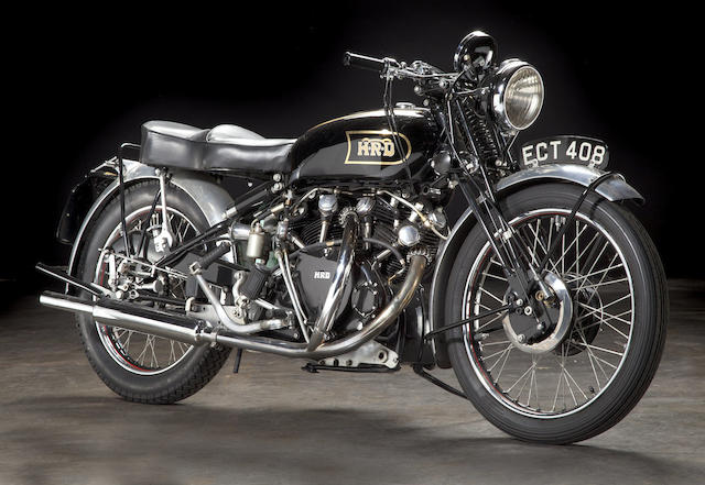 """As the factory ad said: """"The World's Fastest Standard Motorcycle"""",1948 Vincent  998cc Series B Black Shadow Frame no. R2742 Engine no. F10AB/1/752"""