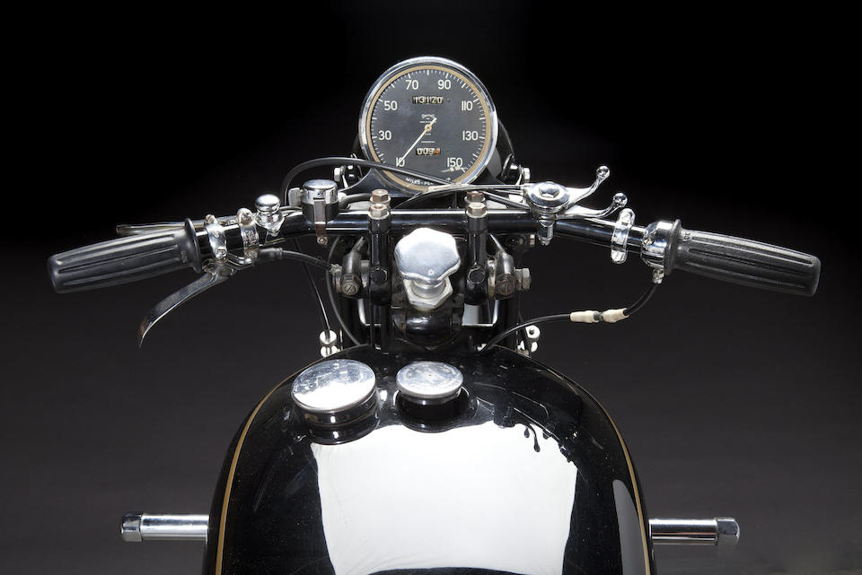 """""""It's coming, high-speed motorcycling for the sheer fun of it!"""" from a factory advertisement,1954 Vincent Series C 998cc Black Shadow Frame no. RC11552B/B Engine no. FA10B/1B/9652"""