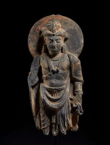 A schist figure of Avalokiteshvara Ancient region of Gandhara, circa 4th century