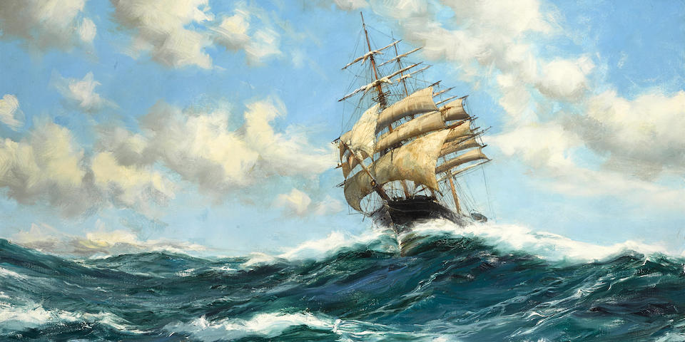 Montague Dawson (British, 1890-1973) The Flying Clipper, Sir Lancelot 24 x 36 in. (60.9 x 91.4 cm.)