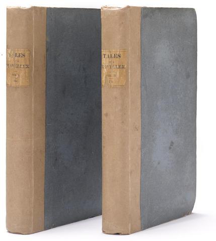 IRVING, WASHINGTON. 1783-1859. Tales of a Traveller, by Geoffrey Crayon, Gent. London: John Murray, 1824.