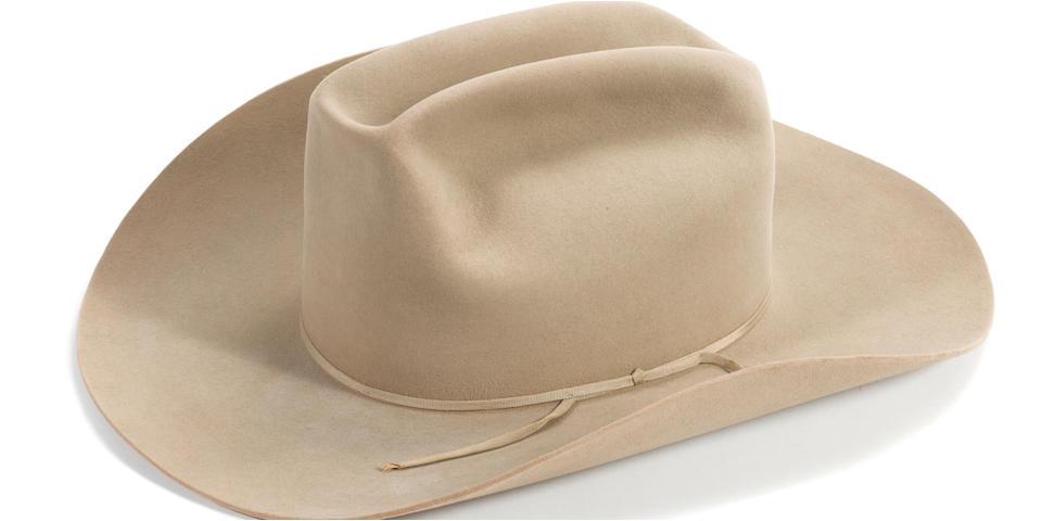 A Charlton Heston tan Resistol cowboy hat