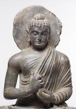 A schist figure of Buddha Ancient region of Gandhara, 3rd/4th century