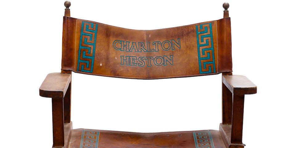 A Charlton Heston director's chair