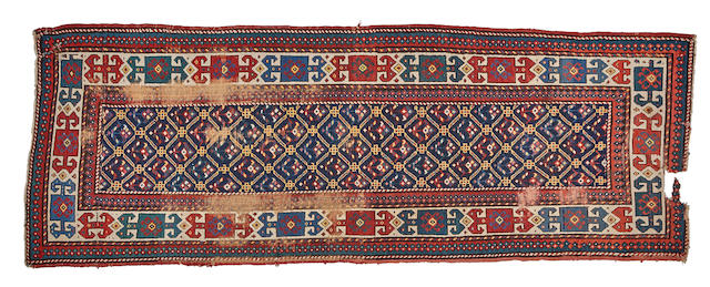 A Kazak rug  size approximately 3ft. x 8ft. 8in.