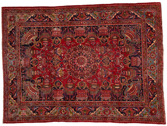 A Moud rug  size approximately 8ft. x 10ft. 10in.