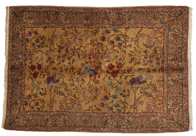A Turkish rug size approximately 4ft. 3in. x 6ft. 3in.