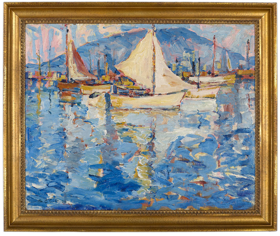 Selden Connor Gile (American, 1877-1947) Tiburon Bay 24 x 30in overall: 29 x 34 3/4in (Painted in 1926)