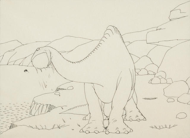 A Winsor McCay drawing from Gertie the Dinosaur