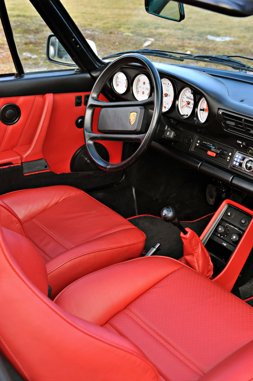 <B>1989 PORSCHE 930S TURBO SLANT NOSE CABRIOLET<br /><br /></B>VIN. WPOEB0935KS070209<BR />Engine no. 68K00384 (M930/68)