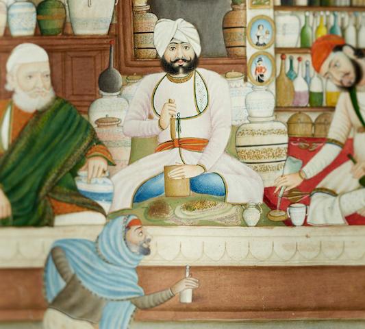 An apothecary  Kangra, Sikh period, mid-19th century