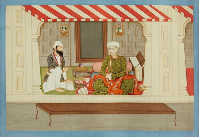 A gem dealer Kangra, Sikh period, mid-19th century