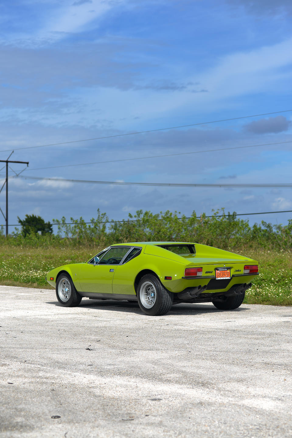 <B>1971 DeTOMASO PANTERA<br /><br />Design by Carrozzeria Ghia<br /></B><BR />Chassis no. THPNLS01992<BR />Engine no. 87400928