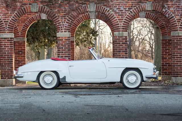 <B>1961 MERCEDES-BENZ 190SL ROADSTER<br /></B><BR />Chassis no. 121040.10.018793<BR />Engine no. 121921.10.018915