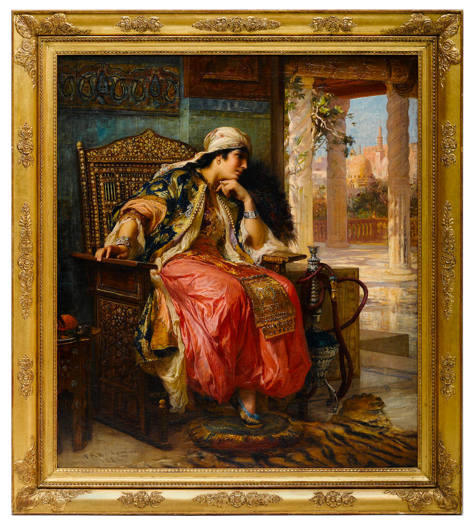 Frederick Arthur Bridgman (American, 1847-1928) The favorite 49 x 42 3/4in (124.4 x 108.5cm)