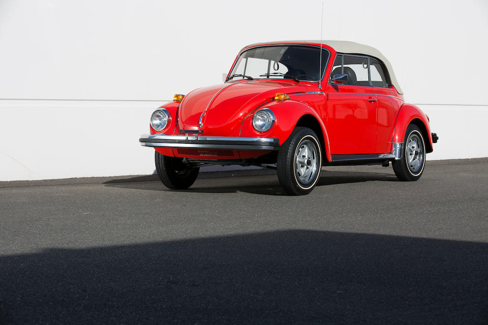<i>From the Collection of the late Wade Carter</i><br /><b>1979 VOLKSWAGEN SUPER BEETLE CABRIOLET<BR />Coachwork by Karmann<br /></B><BR />Chassis no. 1592041475<BR />Engine no. 147378