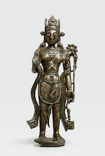 A copper alloy figure of Avalokiteshvara Western Tibet, 11th century