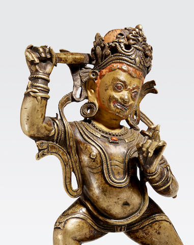 A copper alloy figure of Achala Tibet, 12th/13th century