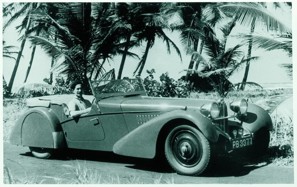 <i>Delivered new to New York</i><BR /><B>1937 BUGATTI  TYPE 57SC SPORTS TOURER<BR />Coachwork by Vanden Plas<br /></B><BR />Chassis no. 57541<BR />Engine no. 29S &#150; See text