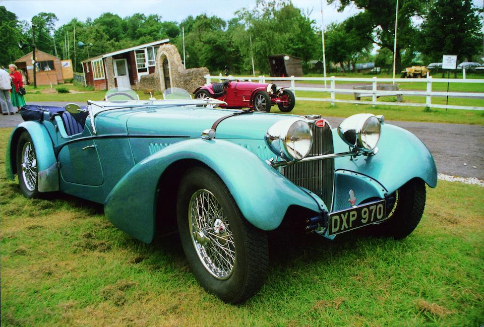 <i>Delivered new to New York</i><BR /><B>1937 BUGATTI  TYPE 57SC SPORTS TOURER<BR />Coachwork by Vanden Plas<br /></B><BR />Chassis no. 57541<BR />Engine no. 29S – See text