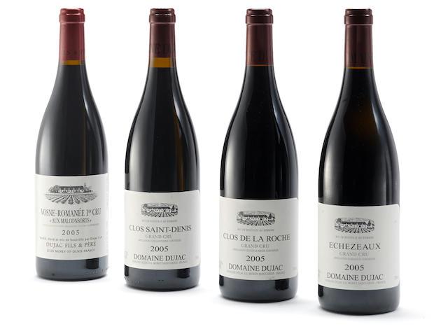 Clos St. Denis 2005, Dujac (3) Clos de la Roche 2005, Dujac (2) Chambolle Musigny, Les Amoureuses 2005, Comte de Vogüé (1)