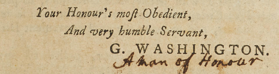 WASHINGTON, GEORGE. 1732-1799. Major George Washington's Journal to the River Ohio, &c. [and] The Conclusion of Major Washington's Journal, begun in our last. In: The Maryland Gazette. Annapolis, MD: Jonas Green, March 21-28, 1754. Nos 463-464.