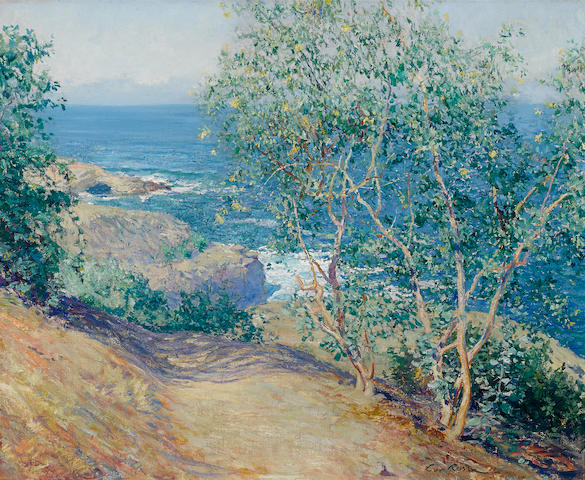 Guy Rose (American, 1867-1925) Indian Tobacco Trees, La Jolla 24 x 29in (overall: 34 x 38 1/2in)