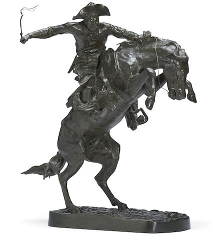 Frederic Remington (American, 1861-1909) Bronco Buster height: 23 1/2in