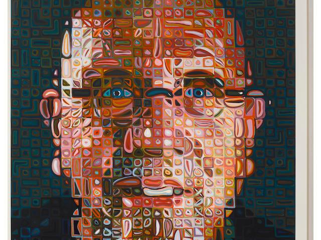 Chuck Close (born 1940); Self-Portrait;