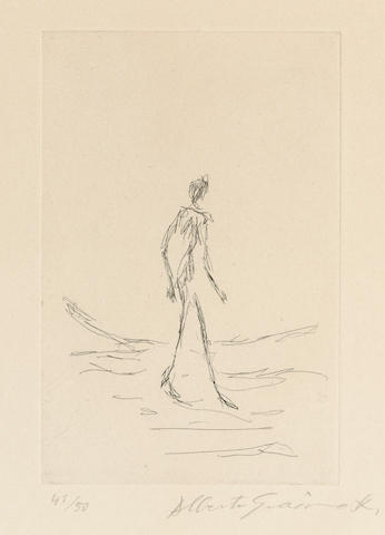 Alberto Giacometti (1901-1966); Frontispiece, from Bibliographie des oeuvres de René Char de 1928 à 1963;