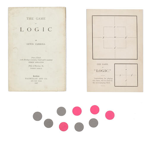 DODGSON, CHARLES LUTWIDGE (LEWIS CARROLL).  1832-1898. The Game of Logic. London: MacMillan and Co., 1887.