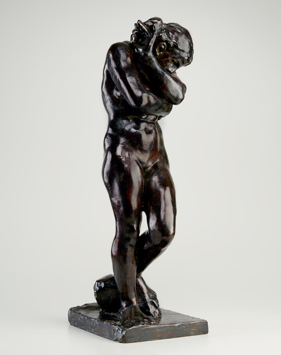 AUGUSTE RODIN (1840-1917) Eve, petit modèle, version à la base carrée, dite aussi 'aux pieds plats' 29 5/8 in (75.2 cm) (height) (Conceived in 1883 and cast between 1925 and 1935)