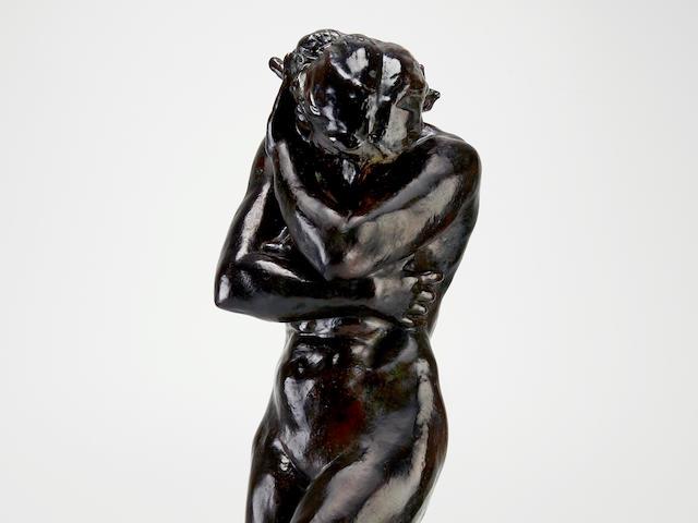 AUGUSTE RODIN (1840-1917) Eve, petit modèle, version à la base carrée, dite aussi 'aux pieds plats' 29 5/8 in (75.2 cm) (height) (Conceived in 1883 and cast between 1925 and 1935)