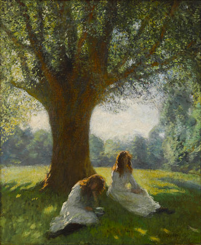 Sir George Clausen RA RWS (British, 1852-1944) The spreading tree 24 x 20in (61 x 51cm)
