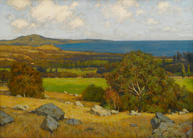 William Wendt (American, 1865-1946) Montecito 40 x 55in overall: 51 x 66in (Painted in 1909)
