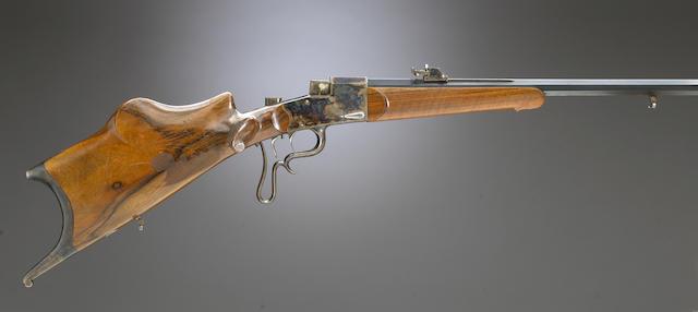 A continental falling block schuetzen rifle