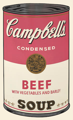 Andy Warhol (1928-1987); Beef, from Campbell's Soup I;