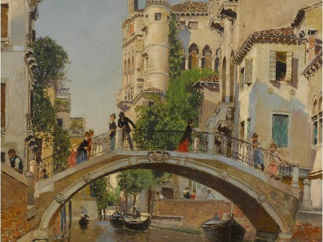 Martin Rico y Ortega (Spanish, 1833-1908) A Venetian canal 29 x 18 1/2in (74 x 47cm)