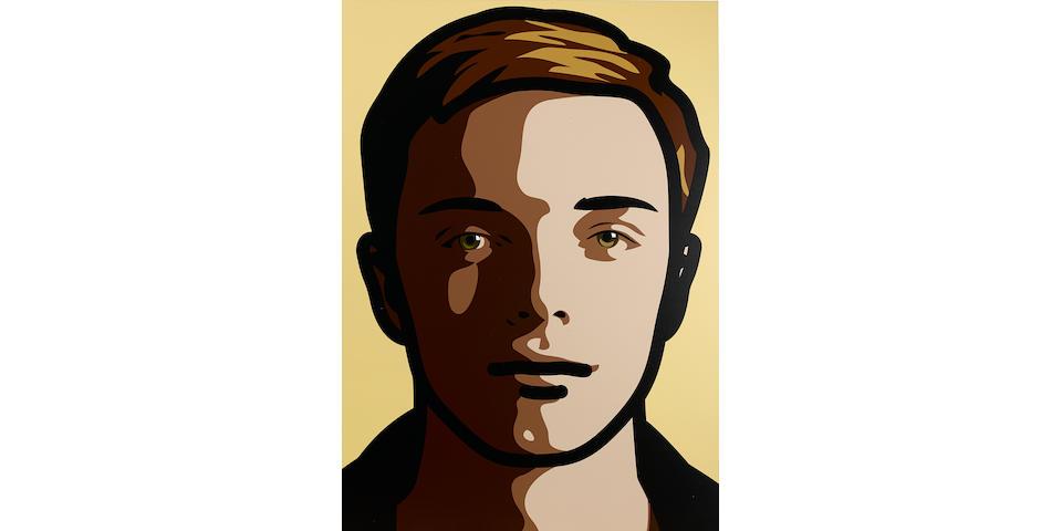 Julian Opie (born 1958) Finn, Eyes Straight, Head Straight, Smile, 2013 39 1/4 x 27 5/8 in. (99.7 x 70.2 cm)