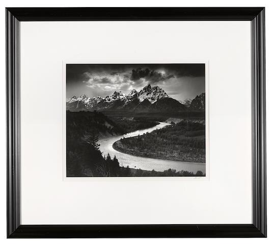 Ansel Adams (1902-1984); The Grand Tetons and the Snake River, Grand Teton National Park, Wyoming;