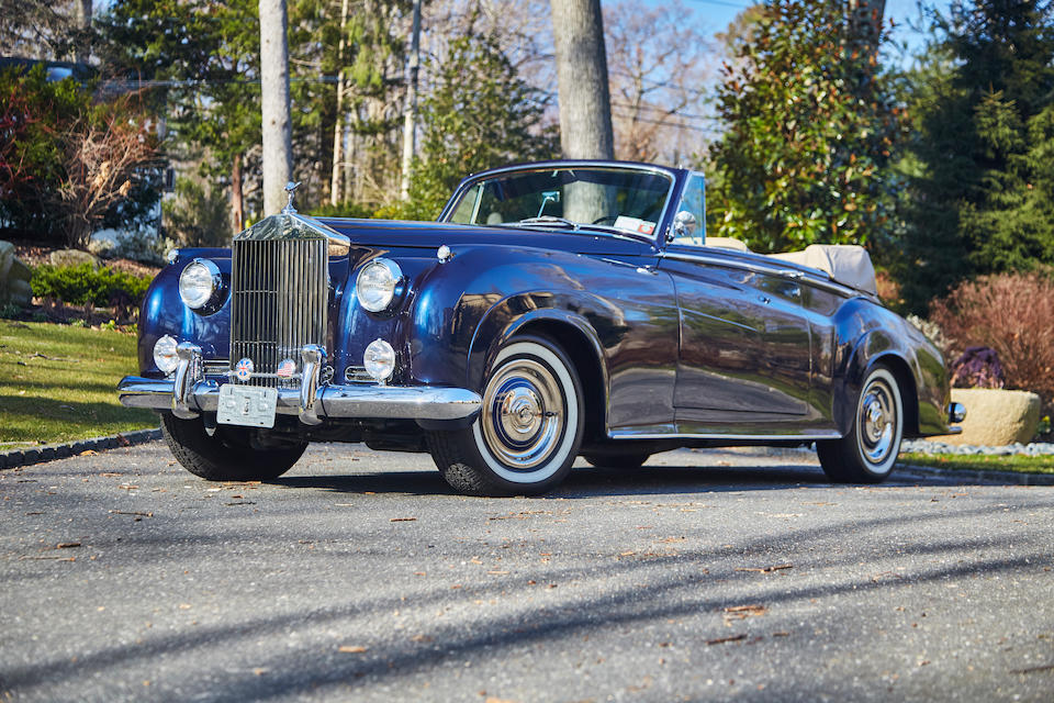 <i>Original left hand drive, U.S. delivery</i><BR /><B>1961 ROLLS-ROYCE  SILVER CLOUD II 'ADAPTATION' DROPHEAD COUPE<BR />Coachwork by H.J. Mulliner<br /></B><BR />Chassis no. LSXC 173<BR />Engine no. 451 CS