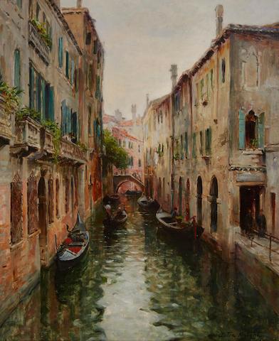 Louis Aston Knight (American, 1873-1948) Rio St. Aponal, Venice 32 1/4 x 25 3/4in (82 x 65.5cm)