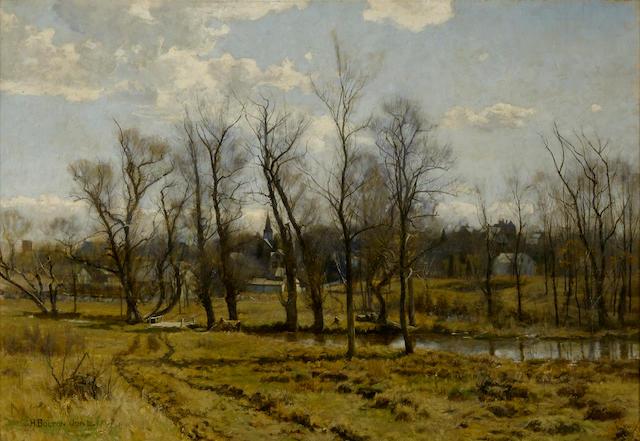 Hugh Bolton Jones (1848-1927) Spring Landscape 22 1/4 x 32 1/4in