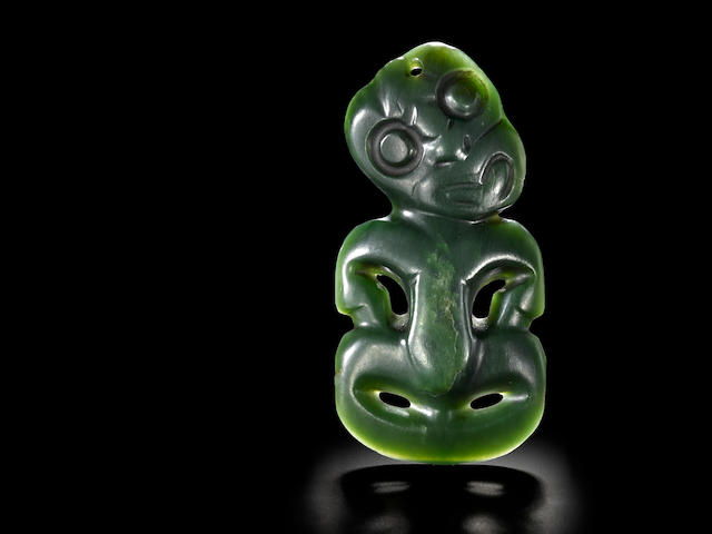 Maori Anthropomorphic Neck Pendant, New Zealand