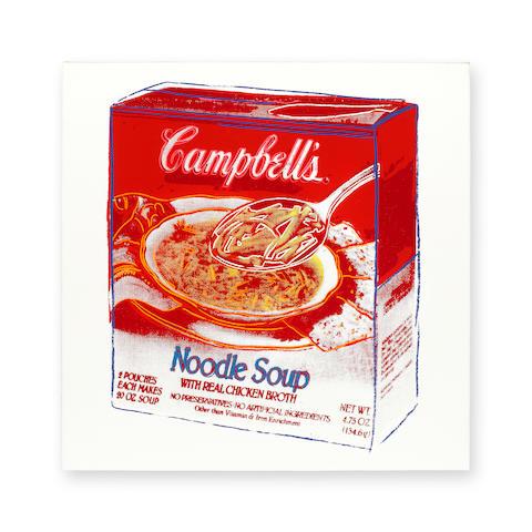 ANDY WARHOL (1928-1987) Campbell's Soup Box (Noodle Soup), 1986
