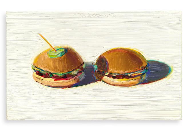 WAYNE THIEBAUD (b. 1920) Two Hamburgers, 2000